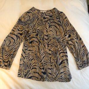 Flowy top with zebra motif